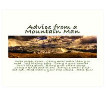 Advice from a Mountain Man Art Print