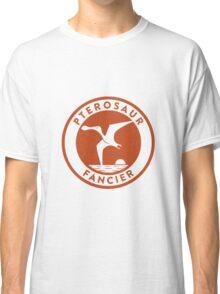 Pterosaur Fancier Tee (Orange on White) Classic T-Shirt