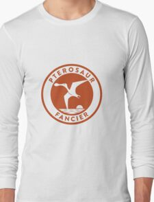 Pterosaur Fancier Tee (Orange on White) T-Shirt