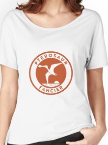 Pterosaur Fancier Tee (Orange on White) Women's Relaxed Fit T-Shirt