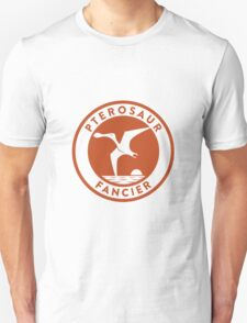 Pterosaur Fancier Tee (Orange on White) Unisex T-Shirt