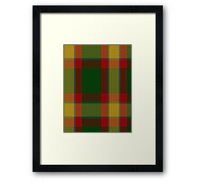 02852 City of Englehart District Tartan  Framed Print