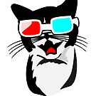Cat with 3D Glasses by pda1986