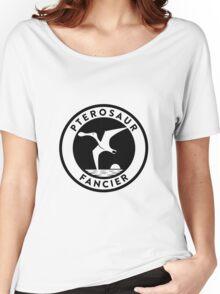 Pterosaur Fancier Tee (Black on Light) Women's Relaxed Fit T-Shirt