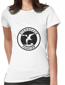 Pterosaur Fancier Tee (Black on Light) Womens Fitted T-Shirt