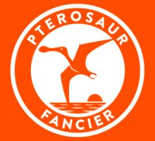 Pterosaur Fancier Tee (White on Dark) Kids Tee