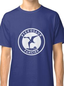 Pterosaur Fancier Tee (White on Dark) Classic T-Shirt