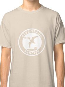 Pterosaur Fancier Tee (White on Dark) Classic T-Shirt