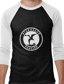 Pterosaur Fancier Tee (White on Dark) Men's Baseball ¾ T-Shirt