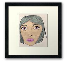 Bubblegum Elle Framed Print