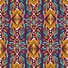 Hipster seamless aztec pattern with geometric elements and typographic text by tomuato
