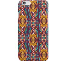 Hipster seamless aztec pattern with geometric elements and typographic text iPhone Case/Skin