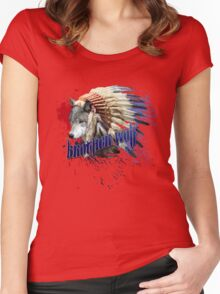 Brother wolf Women's Fitted Scoop T-Shirt