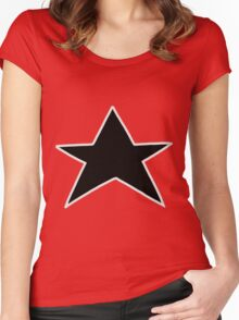 Red Zeo Star Visor Women's Fitted Scoop T-Shirt
