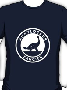 Ankylosaur Fancier Tee (White on Dark) T-Shirt