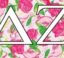 Delta Zeta Floral Turtles Sticker