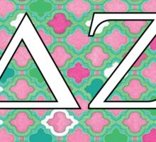 Delta Zeta Pink and Green Sticker