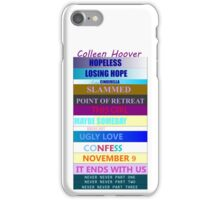 Colleen Hoover Spines iPhone Case/Skin