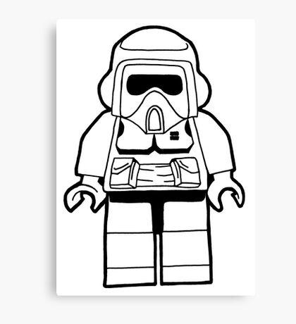 Star Wars Lego Scout Trooper Fan Art Design Canvas Print