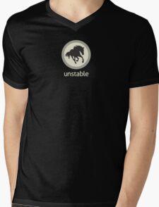 Pale Green Unstable Horse Mens V-Neck T-Shirt