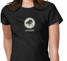 Unstable Logo - Pale Green Womens Fitted T-Shirt