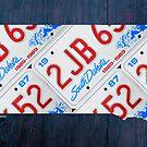 South Dakota License Plate Map by designturnpike