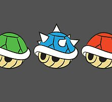 Mario Kart Items- Shells by Lauramazing