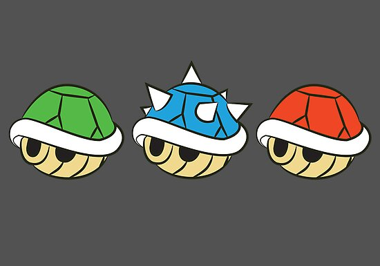 Quot Mario Kart Items Shells Quot Posters By Lauramazing Redbubble