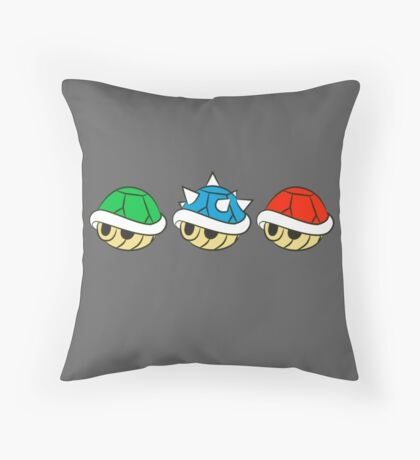 Mario Kart Items- Shells Throw Pillow