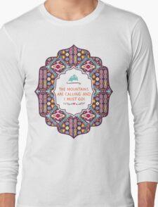 Native american colorful  tribal pattern Long Sleeve T-Shirt