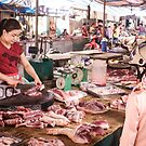 Butcher Shop Dien Bien Phu Vietnam by Andrew  Makowiecki