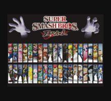 Super Smash Bros Brawl all characters Kids Tee