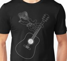 Freedom from Music - Bird Guitar Unisex T-Shirt