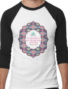 Navajo pattern with geometric elements Men's Baseball ¾ T-Shirt