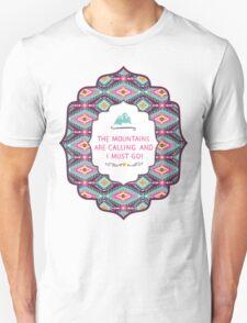 Navajo pattern with geometric elements Unisex T-Shirt