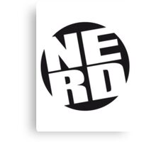 Rounded Nerd Logo Canvas Print