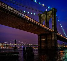 Twilight At The Brooklyn Bridge by Chris Lord