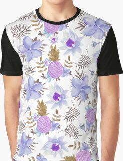 Pastel elegant lavender brown watercolor summer fruit floral Graphic T-Shirt