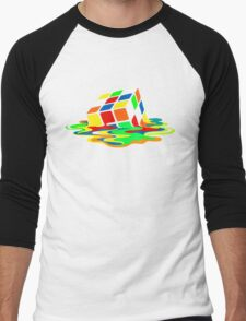 The Big Bang Theory Sheldon Cooper Melting Rubik's Cube cool geek Men's Baseball ¾ T-Shirt