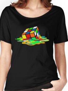 The Big Bang Theory Sheldon Cooper Melting Rubik's Cube cool geek Women's Relaxed Fit T-Shirt