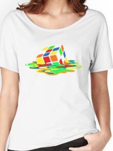 The Big Bang Theory Sheldon Cooper Melting Rubik's Cube cool geek Women's Relaxed Fit T-Shirt