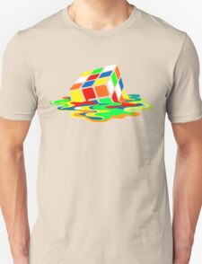 The Big Bang Theory Sheldon Cooper Melting Rubik's Cube cool geek Unisex T-Shirt