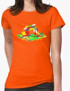 The Big Bang Theory Sheldon Cooper Melting Rubik's Cube cool geek Womens Fitted T-Shirt