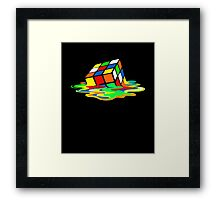 The Big Bang Theory Sheldon Cooper Melting Rubik's Cube cool geek Framed Print