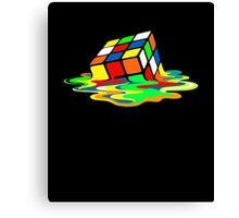 The Big Bang Theory Sheldon Cooper Melting Rubik's Cube cool geek Canvas Print