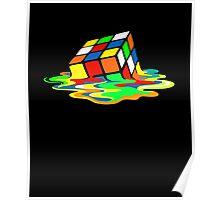 The Big Bang Theory Sheldon Cooper Melting Rubik's Cube cool geek Poster