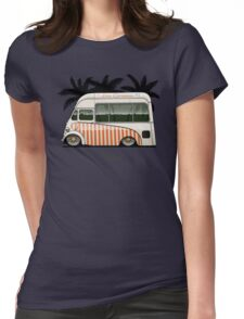Crazy Ice Cream Truck (beige) Womens Fitted T-Shirt