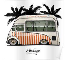 Crazy Ice Cream Truck (beige) Poster
