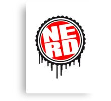 Nerd Stamp Logo Canvas Print