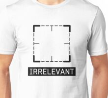 Irrelevant - Person of Interest (Black) Unisex T-Shirt